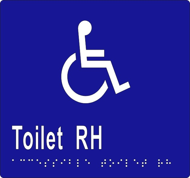 Accessible Toilet R/H 160x150 BRAILLE